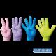 Medizinische Untersuchungshandschuhe in frischen Farben